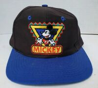 Vintage 1990s Embroidered Mickey Mouse Snapback Mickey & Co Disney Universal