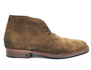 $498 JOHN VARVATOS COLLECTION Beige Suede Chukka Boots 9.5 US