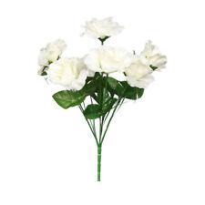 Artificial Rose Flower Bouquet 84 Heads Silk Flower Open Rose Bush Cream Flower