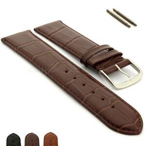 Extra Long Genuine Leather Watch Strap 16 18 20 22 24 26 Croco Louisiana MM