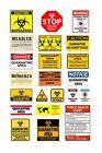 1:87 HO scale model quarantine biohazard signs
