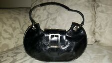 Kenneth Cole Reaction Small Black Clutch Evening Club Party Handbag