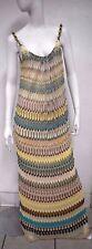 Missoni Women's Multicolored Striped Knit Maxi Porcelain chain Strap Dress 42/ 6