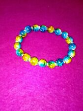 LOVELY GLASS BEAD  TURQUOISE HANDMADE FASHION BRACELET /MOTHERS DAY/BIRTHDAY/