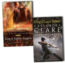 Cassandra Clare Mortal Instruments 2 Books Set, City Of Fallen Angel, Lost Souls