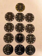 Smiths prewar & postwar chronometric tachometer faces .
