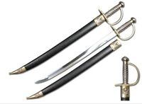"""28"""" Pirates of Caribbean Cutlass Sword Bow Guard Saber Movie Replica with Scab"""