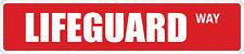 "*Aluminum* Lifeguard 4"" x 18"" Metal Novelty Street Sign  SS 2345"