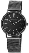 Excellanc Damen Armbanduhr Mesharmband Mesh Armband Uhr Milanaise Schwarz Ziffer