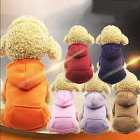 Puppy Pet Dog Hoodie Jumper Sweater Soft Dogs Clothes Sports Coat Cat Apparel US