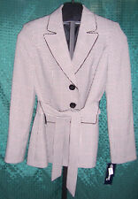 NWT Evan Picone Suit Black & White Hounds Tooth Blazer Jacket Misses Size 8