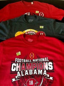 Pack of 3 Alabama Crimson Tide 2021 Championship & Playoff Shirts Size XL NEW