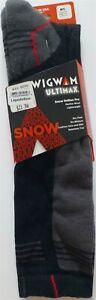 NWT Wigwam Ultimax Snow Hellion Pro Black Merino Wool Socks Ski Ride Skate F6146