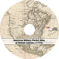 1776 American Military Pocket Atlas of British Colonies - Maps Book on CD