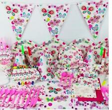 1set butterfly theme paper cup plate fork spoon kids birthday party decoration