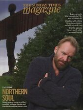 NORTHERN SOUL: STING GOES HOME - THE SUNDAY TIMES MAGAZINE  (18th October 2009)