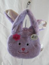 BEVERLY HILLS TEDDY BEAR CO. Plush Purple Bunny Purse