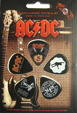 AC/DC PLEKTRUMSET / GUITAR PICK SET # 8 HIGHWAY TO HELL - 5 STÜCK