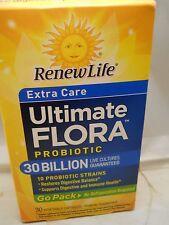 Ultimate Flora extra care probiotics, 30 billion live cultures go packs 30 vcaps