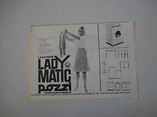 advertising Pubblicità 1963 LAVATRICE POZZI LADY MATIC