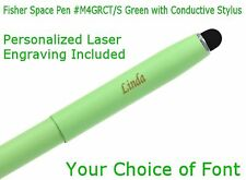 Fisher #M4 Series Personalized Green Space Pen with Conductive Stylus #M4GRCT/S