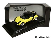 SMART ROADSTER Coupe in giallo BJ 2003 1:43 Minichamps 400032120 NUOVO & OVP