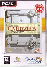 PC CDROM • Civilization 3 III Complete Espansioni COPIA FISICA CON CONFEZIONE