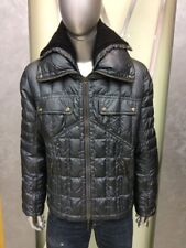 Just Cavalli Mens quilted Jacket with wool collar, size XXL, metallic burgundy