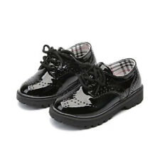 Boy's Girl's Classic Lace-Up Oxford Shoes Comfort School Uniform Flats Loafer