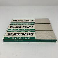 Lot Of 3 Boxs Vintage Pencils Black Point Pencil #2 274 In Original Boxs New USA