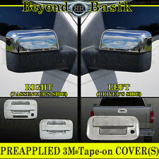 04-08 F150 Reg/Ext Cab Chrome Door Handle Covers no PSK w/KP+Top Mirror+Tailgate