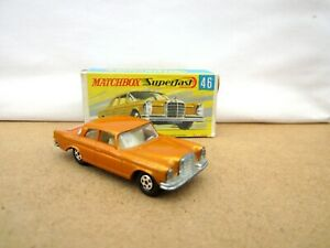 Matchbox Superfast MB 46 Mercedes Benz 300 SE Coupe - Gold - Boxed