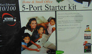 Linksys Fast Ethernet 10/100 5 port Starter Kit for Home And Office New in Box