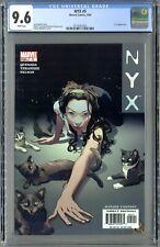 NYX #5 (Marvel 9/04) CGC 9.6 White Pages! Pristine X-23!!