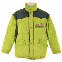 DIADORA Boys Padded Jacket 14-15 Years XL Green Vintage EI06