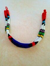 Strand Choker Necklace Seed Bead Handmade Double