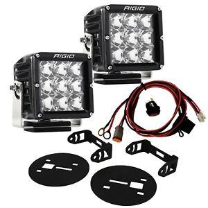 RIGID LED Fog Light Kit w/ D-XL PRO LED Lights for 15-19 Chevy Silverado HD
