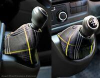 VW Transporter T6 INKA Gear Shift Knob Boot Gaiter Cover GTI Tartan Yellow