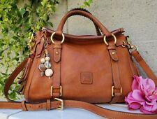 Dooney & Bourke Florentine Satchel NATURAL small leather purse handbag shoulder