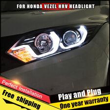 For Honda HR-V VEZEL Headlights assembly Bi-Xenon Lens Double Beam HID KIT 16-18