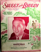 SWEET and LOVELY 1931 Sheet Music