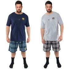 Pijamas y batas de hombre de manga corta en gris