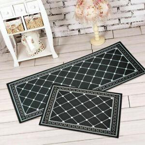 Home Rectangle Floor Mats Kitchen Bedroom Area Rugs Entrance Doormats Easy Clean