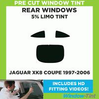 Pre Cut Window Tint - Jaguar XK8 Coupe 1997-2006 - 5% Limo Rear