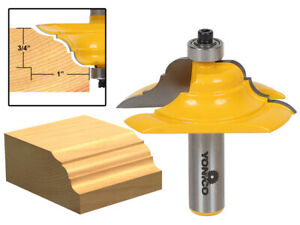 "2-1/2"" Diameter French Baroque Table Edge Router Bit - 1/2"" Shank - Yonico 13133"