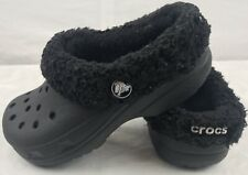 Crocs Clogs Unisex Childrens Size 12/13 US Black Insulated Slip On