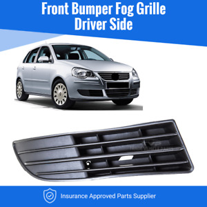 Vw Polo 2005-2009 Front Bumper Fog Grille Driver Side Insurance Approved New