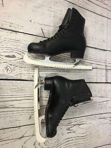 Vintage Riedell 297 Men's Size 10 Black Leather Professional Ice Skates USA