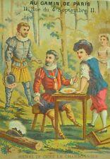 1870's Au Gamin De Paris, F. Pinet Gaulon French King Henri IV Trade Card F84
