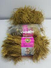 New listing lion brand yarn fun fur~color moss~3 skeins~read description